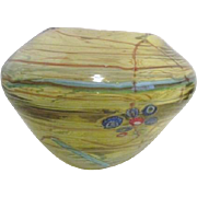 Art Glass Bowl with Millefiori Flowers