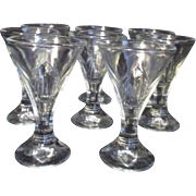 Set of 8 Anchor Hocking Clear Glass Sundae or Sherbet Servers