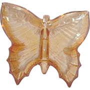 Florigold Carnival Glass Butterfly Candy Dish