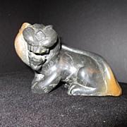 Vintage Stone Carved  Cat
