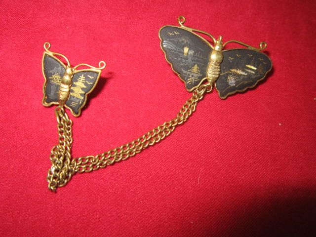 Vintage Japanese Butterfly pin