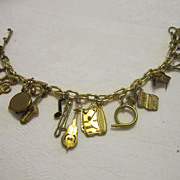 Vintage Musical Theme Charm Bracelet by Pididdly Links