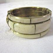 Vintage Bone, Hinged Bracelet