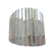 Sterling Silver Ring Striations Marked TM-85
