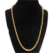 Gold Tone Braided Necklace