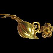 Van Dell Gold Filled Flower Lapel Pin