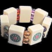 Mah Jong Tile Expandable Bracelet