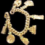 Gold Tone Las Vegas Charm Bracelet