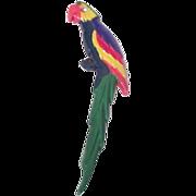 Mid Century Plastic Parrot Pin