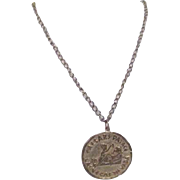 Caeser's Palace Las Vegas Coin Pendant Necklace