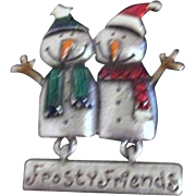 Frosty Friends Snowmen Christmas Pin