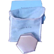 Tiffany and Co Sterling Silver Tape Measure in Original Felt Pouch and Box