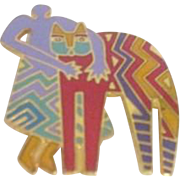 Laurel Burch Pin/Brooch Best Friends