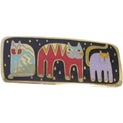 Laurel Burch Pin/Brooch with 3 Cats