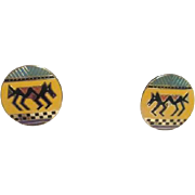 Laurel Burch Pair of Earrings for Pierced Ears Coptic Horse