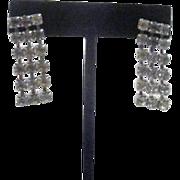 Pair of Dangling Rhinestone Earrings for Pierced Ears