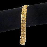 Goldtone Band Bracelet Intricate Design