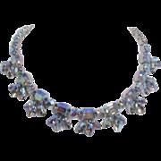 Unsigned Iridescent Rhinestone Necklace