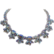 Unsigned Iridescent Rhinestone Necklace