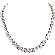 "16"" Milor Sterling Silver Necklace"