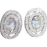 Pair of Snap On Rhinestone Shoe Buckles