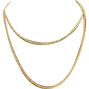 "Kenneth Jay Lane Braided Goldtone 33"" Necklace"