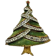 JJ Jonette Christmas Tree Pin Mixed Metal Book Piece
