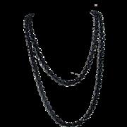"""48"""" Strand of Smoky Czechoslovakian Crystals Necklace"""