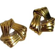 Pair of Monet Goldtone Earrings for Pierced Ears