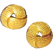 Avon Goldtone Wraparound Design Earrings for Pierced Ears