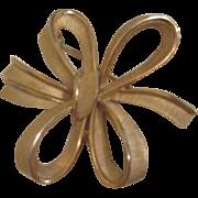 Trifari Goldtone Ribbon in Bows Pin/Brooch