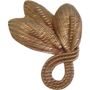 Goldtone Three Petals with Beading Pin/Brooch by Napier