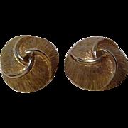 Pair of Monet Goldtone Clip-on Classic Design Earrings