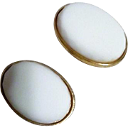 Pair of Classic White Clip-on Earrings from Castlecliff