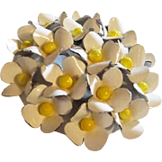 Cluster of White Flowers Brooch