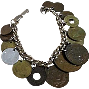 15 Coins on Chain Charm Bracelet