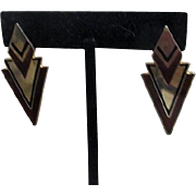 Laurel Burch Geometric Modern Pierced Earrings