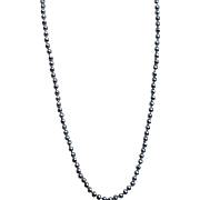 "30"" Strand of  Black Freshwater Pearls Individually Knotted Silver Clasp"