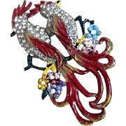 Coro Duette Love Birds Brooch
