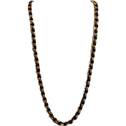 "Napier 29"" Goldtone and Black Necklace"