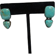 Sterling Silver and Turquoise Earrings for Pierced Ears