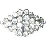 Duette Fur Clips Brooch Rhinestones from Czechoslovakia