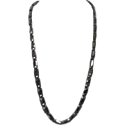 Anne Klein Silvertone Curled Chain Pattern Necklace