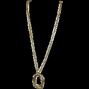 Liz Claiborne Goldtone Necklace with Circles Pendant