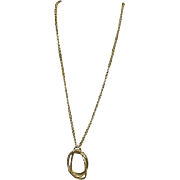 Liz Claiborne Goldtone Necklace with Circles Pendant
