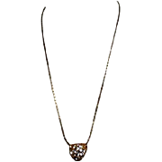 Heart with CZ's on Chain Necklace
