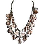 Two Strand Faux Crystal Bead Necklace by BR
