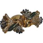 Coro Duette Brooch & Fur Clips Flowers with Tremblers