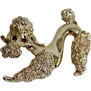 Goldtone Poodle Pin by Gerrys