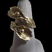 Double Iris Genuine Copper Ring Lightly Adjustable